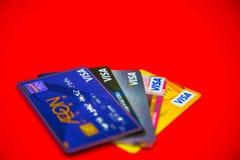 Cartão de crédito do visto Imagem de Stock