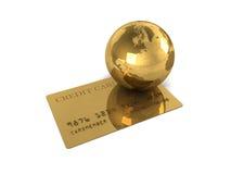 Cartão de crédito internacional abstrato do ouro Imagens de Stock