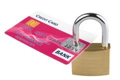 Cartão de crédito Locked Imagens de Stock