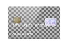 Cartão de crédito lustroso realístico altamente detalhado ilustração stock