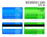 Cartão de crédito moderno, cartão do VIP do negócio, cartão do membro fotos de stock