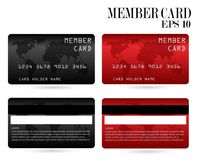 Cartão de crédito moderno, cartão do VIP do negócio, cartão do membro fotografia de stock
