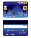 Cartão de crédito no mapa Backgr da palavra Fotos de Stock Royalty Free