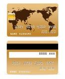 Cartão de crédito no mapa Backgr da palavra Foto de Stock