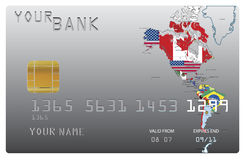 Cartão de crédito para seu banco ilustração royalty free