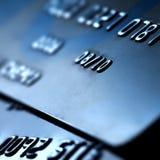 Cartão de crédito plástico foto de stock