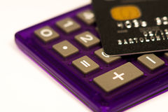 Cartão de crédito preto Fotos de Stock Royalty Free