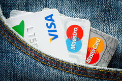 Cartão de crédito s Fotos de Stock