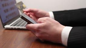 Cartão de crédito s vídeos de arquivo