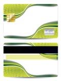Cartão de crédito verde abstrato do projeto ilustração do vetor