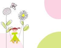 Cartão de cumprimentos ilustração stock