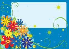 Cartão de cumprimentos com flores Fotos de Stock
