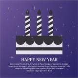 Cartão de cumprimentos do ano novo feliz Foto de Stock Royalty Free
