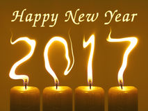 Cartão de 2017 cumprimentos do ano novo feliz Imagens de Stock