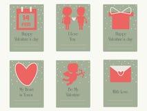 Cartão de cumprimentos do dia de Valentim Cartão de casamento Fotos de Stock Royalty Free