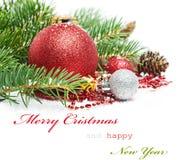 Cartão de cumprimentos do Natal Fotos de Stock