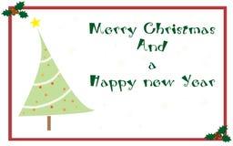Cartão de cumprimentos do Natal Fotografia de Stock