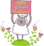 Cartão de cumprimentos engraçado para uma Páscoa do vegetariano Imagens de Stock Royalty Free