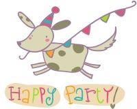 Cartão de cumprimentos feliz do partido Imagens de Stock