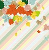 Cartão de cumprimentos sem emenda com folhas de outono Imagem de Stock Royalty Free