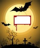 Cartão de Dia das Bruxas ilustração do vetor