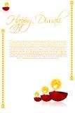 Cartão de Diwali Imagens de Stock Royalty Free