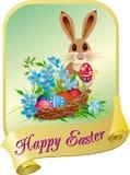 Cartão de Easter com coelho Imagem de Stock