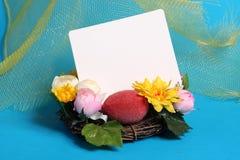Cartão de Easter com decoração Imagens de Stock