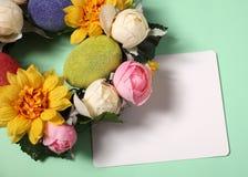 Cartão de Easter com decoração Imagem de Stock Royalty Free