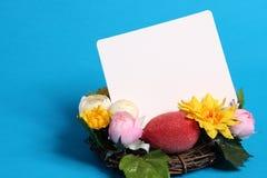 Cartão de Easter com decorações Fotos de Stock