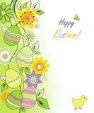 Cartão de Easter com galinha Ilustração do Vetor
