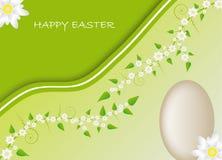 Cartão de Easter com motriz da mola Fotografia de Stock