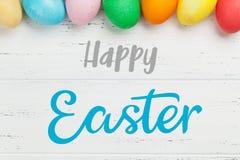 Cartão de Easter com ovos imagens de stock royalty free