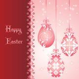 Cartão de Easter cor-de-rosa Fotografia de Stock Royalty Free
