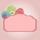 Cartão dos ovos da páscoa Imagem de Stock