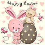 Cartão de Easter do cumprimento Fotografia de Stock