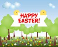 Cartão de Easter feliz Ilustração do Vetor