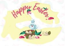 Cartão de easter feliz Imagens de Stock Royalty Free