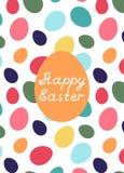 Cartão de easter feliz Foto de Stock