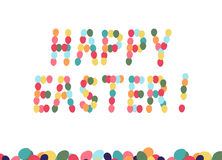 Cartão de easter feliz Fotos de Stock Royalty Free