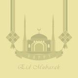 Cartão de Eid Mubarak Fotografia de Stock