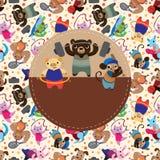 Cartão de esporte animal do jogo Fotografia de Stock