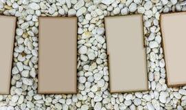 Cartão de etiqueta de pedra imagem de stock