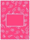 Cartão de Girly Foto de Stock