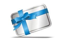 Cartão de Gitt com fita azul Imagens de Stock Royalty Free