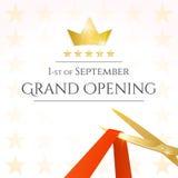 Cartão de grande inauguração Imagem de Stock Royalty Free