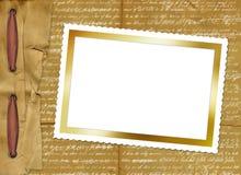 Cartão de Grunge com beira de papel para o projeto ilustração do vetor