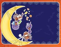 Cartão de Hallooween com aranhas turbulento Imagens de Stock