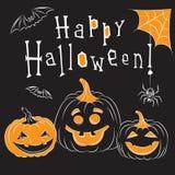 Cartão de Halloween Imagem de Stock Royalty Free