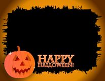 Cartão de Halloween Fotografia de Stock